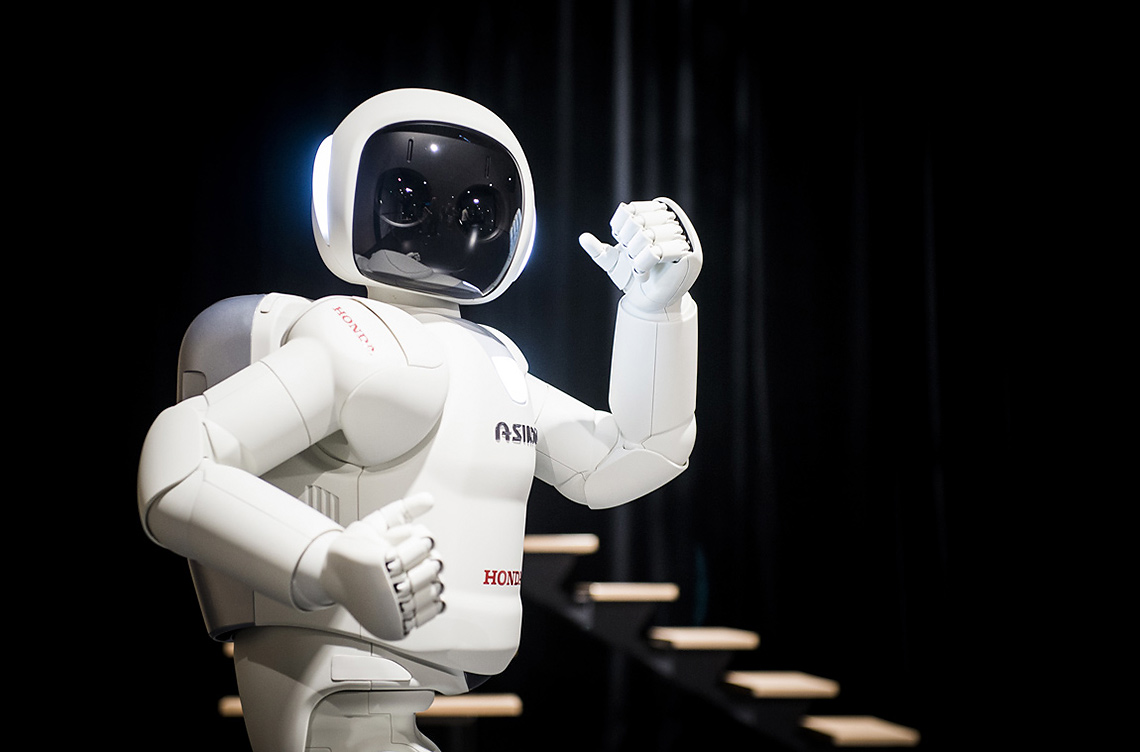 asimo essay robot Reflections on personal robots, backwards and forwards in the early 1980s i published an essay on personal robots — when the asimo robot was an in.