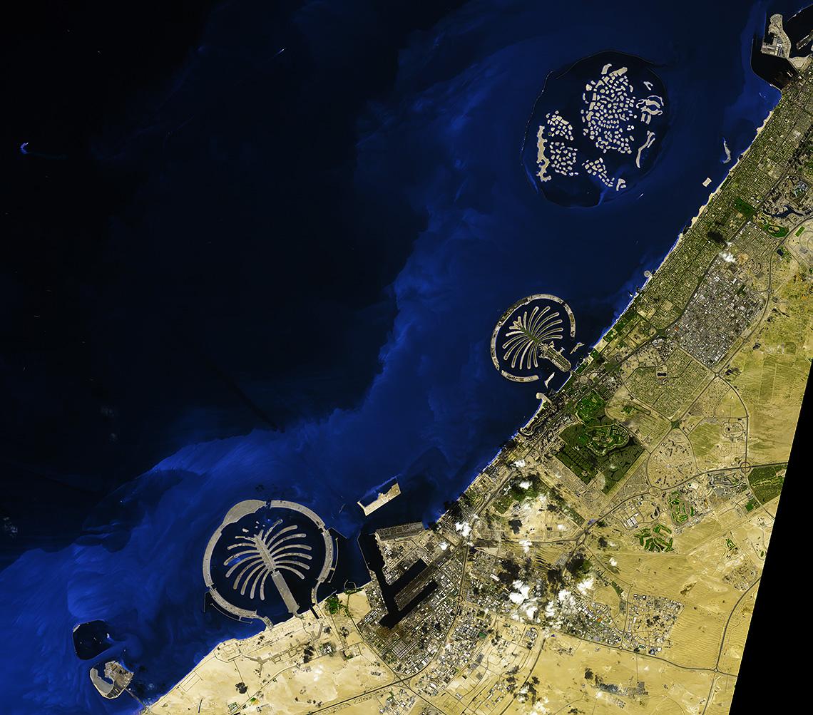 искусственные острова в дубае фото из космоса сделали полноценный
